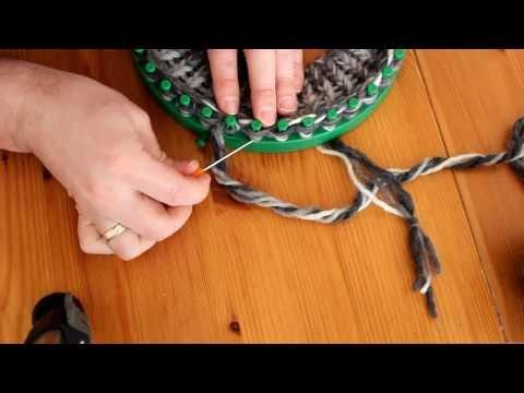 Mütze mit Strickrahmen stricken Teil 03/06: Umschlag erstellen