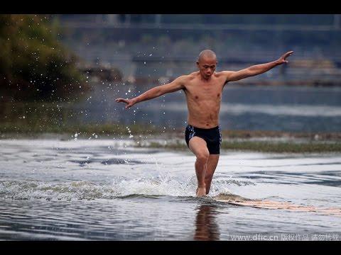 少林武僧輕功水上漂 125米刷新紀錄