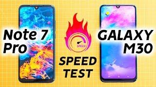 Redmi Note 7 Pro vs Samsung M30 Speed Test - A Galaxy Apart?