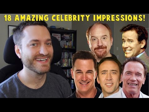 18 Celebrity Impressions With Face Dub.
