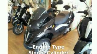 6. 2009 Piaggio MP3 Three Wheeler 250 Walkaround, Details