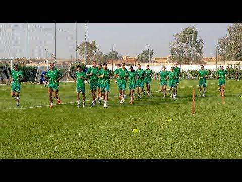 كأس أمم افريقيا 2019.. المنتخب المغربي يجري أول حصة تدريبية له بالقاهرة