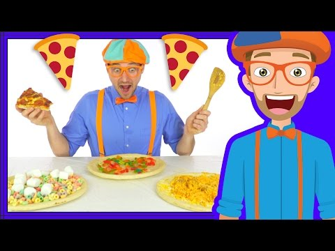 Video Funny Fun Pizza Song by Blippi | Foods for Kids download in MP3, 3GP, MP4, WEBM, AVI, FLV January 2017