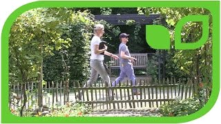 Das Projekt wird vermessen: Der Lubera Obstgarten zu Ippenburg