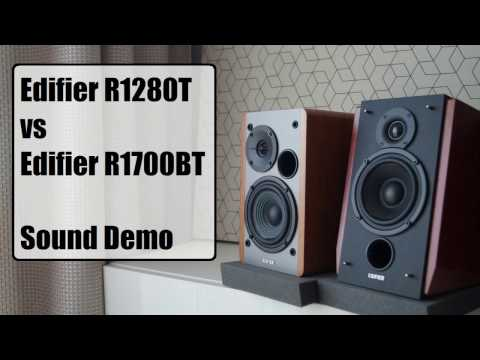 Edifier R1280T vs Edifier R1700BT  || Sound Demo (видео)