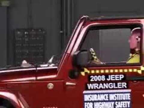 Jeep Wrangler 5D Crash Test 2007 - 2011 Jeep Wrangler 4dr. (Frontal Offset) IIHS