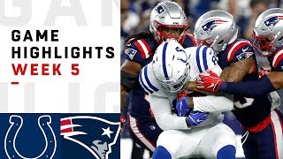 Colts vs. Patriots Week 5 Highlights | NFL 2018