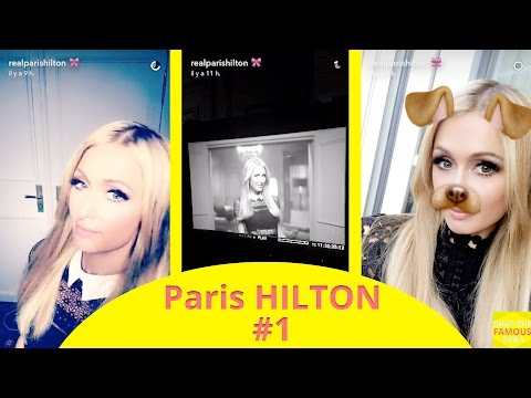 Paris Hilton doing a new hairline campaign - snapchat - june 21 2016