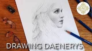 A Speed Drawing time lapse of Daenerys Targaryen (Emilia Clarke) from Game of Thrones - A portrait I've wanted to draw for a...
