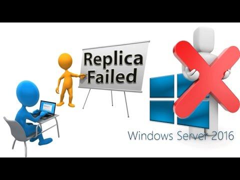 Microsoft Windows 2016 Server Lesson #9 - Verification of Replica Failed for 2003 Server or Higher