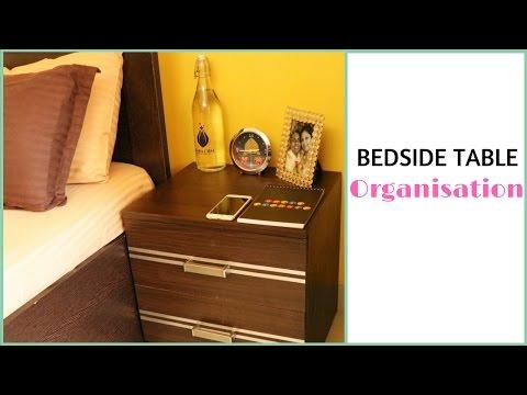 Bedside Table Organisation