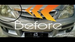 Tutorial membersihkan headlamp mobil yg kusam dan menguning,cukup dengan pasta gigi