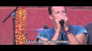 Coldplay - Amazing Day LIVE LETRA ESPAÑOL[LYRICS]2015