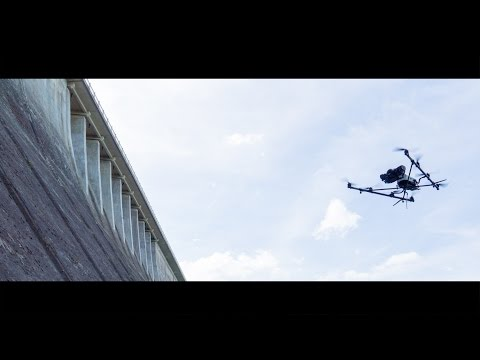 Inspektion & Vermessung einer Talsperre per Drohne.