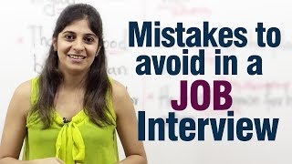 Mistakes To Avoid During A Job Interview Job Interview