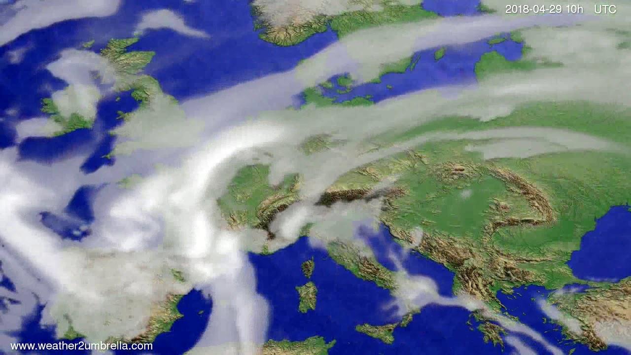 Cloud forecast Europe 2018-04-27