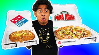 Video I Tried Ordering Every Topping On My Pizza From Papa Johns ~ Dominos MP3, 3GP, MP4, WEBM, AVI, FLV Juli 2018
