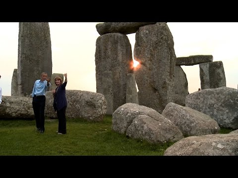 stonehenge - As the last stop on his three-day trip to Estonia and the NATO Summit in Wales, President Obama visits the prehistoric monument Stonehenge.