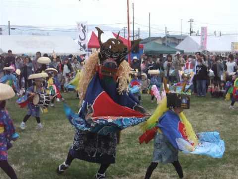 徳丹城春祭り徳田保育園獅子踊り
