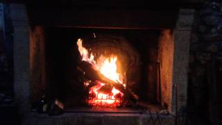 <h5>Log fire in the Mill house</h5>