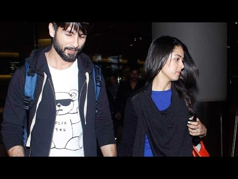 Spotted: Shahid Kapoor And Wife Mira Back From Hon