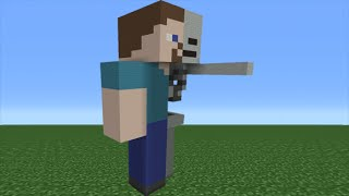 Minecraft Tutorial: How To Make an Anatomy Steve Statue (Skeleton Steve)