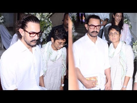 Aamir Khan & Kiran Rao At Prayer Meeting Of Ram Mukherjee | Rani Mukerji's DAD |