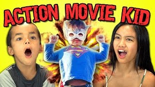 Kids React to Action Movie Kid