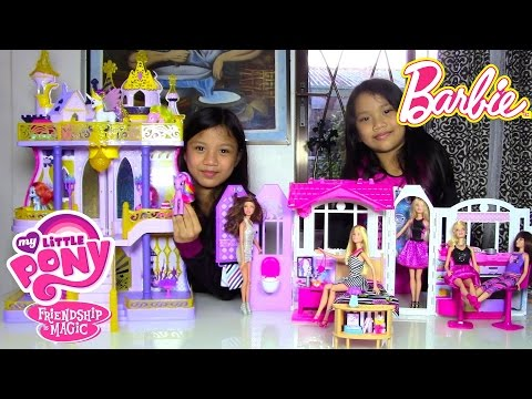 Barbie Doll Glam Getaway House My Little Pony (MLP) Cutie Mark Magic Canterlot Castle