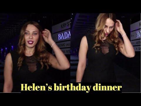 Iulia Vantur attends Helen's birthday dinner At Hakkasan Mumbai