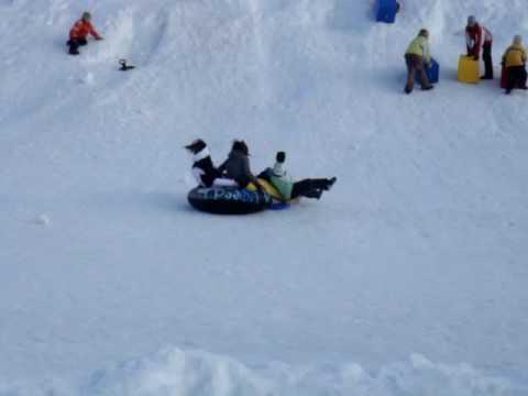 Oops! tube on snow