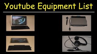 In this tutorial, I wanted to give a list of my youtube equipment that I use to make my videos.  The first item in my setup is a USB microphone logitech headset.  It's relatively inexpensive and it has clear crystal sound with in line adjustable volume control.  In fact, I used it to record this video.  The second item in my equipment list is the HP envy 15 x2 laptop which is use to create and save my videos.  The best feature of this laptop is that is quiet and fan-less.  My old laptop would make noise every time the fan turned on whenever my laptop started to get hot after recording long videos.  The next item is the intuos wacom tablet.  I use this tablet to draw stuff on my computer screen.  4.  My drawing software - microsoft paint and autodesk sketchbook pro.  5.  I record most of videos with a screen capture software specifically movavi video suite 14.  I also use it as a video editing software to combine small clips into longer videos, add video annotations and subtitles such as my website address, remove audio and other stuff.Youtube Equipment List:1.  USB Microphone Logitech Headset:  http://amzn.to/2uEflyn2.  HP Envy X2 15 Laptop:  http://amzn.to/2vyEABc3.  Intuos Wacom Tablet:  http://amzn.to/2vDpicD4.  Autodesk Sketchbook Pro:  http://amzn.to/2i1aWQr5.  Movavi Video Suite 14:  http://amzn.to/2wKjIFz