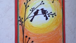 beautiful drawing for children in simple steps(oil pastel shad...