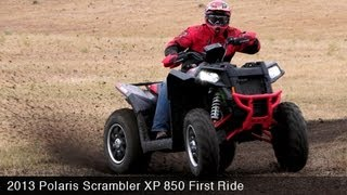 7. 2013 Polaris Scrambler XP 850 First Ride - MotoUSA