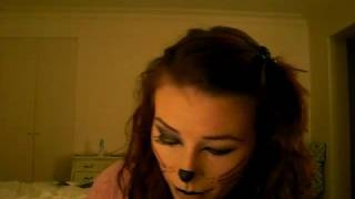 Kitty Cat Makeup for Halloween (tutorial)