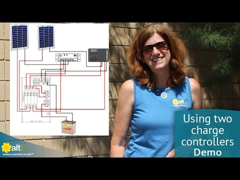 Wiring two charge controllers in parallel