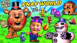 Video FNAF WORLD = CUTE and SQUISHY!  FGTEEV Duddy & Mike Play a Cuddly RPG Animatronics Not-Scary Game MP3, 3GP, MP4, WEBM, AVI, FLV Desember 2018