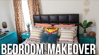 Hey everyone! In this video, I will share how I added bright colors and patterns to redecorate my guest bedroom!Paint:BEHR- Mystic Turquoise Target:CurtainsComforter SetWall MirrorPatterned Toss PillowsAt Home:Peach Throw BlanketBlue Toss PillowRugCheck out my new VLOG Channel!!! http://bit.ly/1VMWHtqK E E P U P W I T H M E Instagram: @aprilbeee_http://bit.ly/1Rv8bBwSnapchat: @aprilbeee1Facebook: April Beeehttp://on.fb.me/1MqdCeDTwitter: @aprilbeee_http://bit.ly/1HqTEPEF O R   B U S I N E S S   I N Q U I R I E S Email: april.beee1@gmail.comM U S I C:http://bit.ly/2bLjW8zT H A N K S   F O R   W A T C H I N G !!!