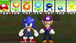 What happens when Sonic and Waluigi uses Mario's Power-Ups? 2 Player Co-Op
