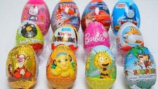 12 Trò chơi bóc trứng socola - 12 Surprise Eggs Kids Fun