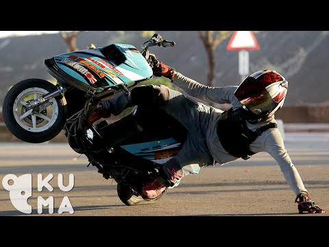 cool fun moped motorcycles sploid stunts tricks video