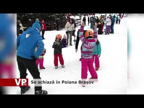 Se schiază în Poiana Brașov