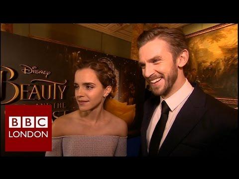 Emma Watson & Dan Stevens 'Beauty and the Beast' interview - BBC London News (видео)