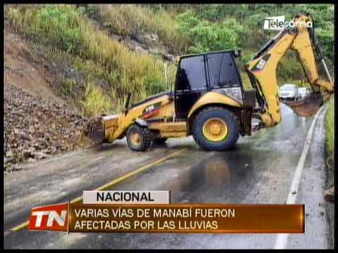 Varias vías de Manabí fueron afectadas por las lluvias