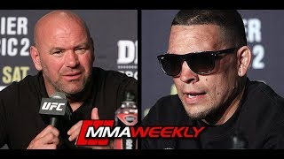 Nate Diaz Skoolz Dana White- Give me the S### Money!!!  (UFC 241) by MMA Weekly
