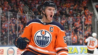 McDavid converts alley-oop pass for dazzling goal vs. Philly by NHL