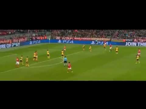 ARJEN ROBBEN GOAL   Bayern Munich 1 0 Arsenal 2017