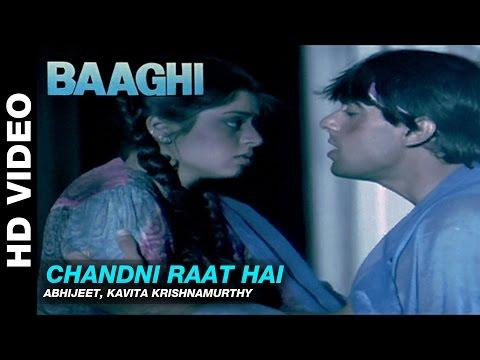 Chandni Raat Hai - Baaghi: A Rebel for Love | Abhijeet & Kavita Krishnamurthy | Salman Khan & Nagma