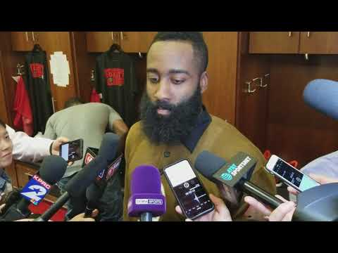 James Harden after Rockets win over Spurs