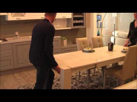 I meccanismi di apertura dei tavoli allungabili